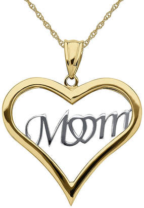 JCPenney FINE JEWELRY Infinite Gold 14K Two-Tone Gold Mom Pendant Necklace