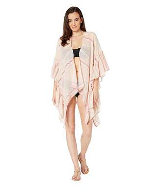 6edd5b77a0 Collection XIIX Striped Side Ruffle Cover-Up