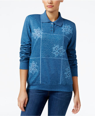 Alfred Dunner Sweet Nothings Patchwork Sweater $56 thestylecure.com