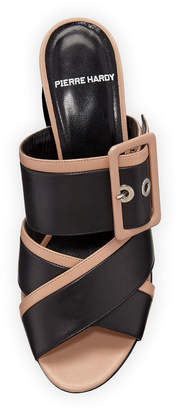 Pierre Hardy Two-Tone Buckle Sandal Mules