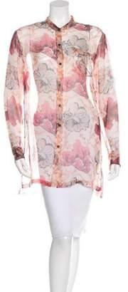 Dries Van Noten 2015 Calybe Silk Tunic Pink 2015 Calybe Silk Tunic