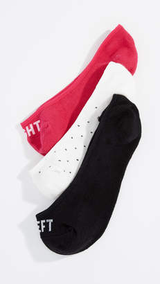 Kate Spade Three Pack Right Left Liner Socks
