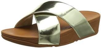 db51d7945573 FitFlop Women Lulu Cross Slide Mirror Open Toe Sandals