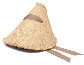 16e18c016f0 Lola Hats Megaphone Ribbon Embellished Raffia Hat - Womens - Camel