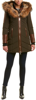 Nb Series By Nicole Benisti Solden Leather-Trim Down Coat