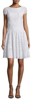 Alice + Olivia Imani Crochet Medallion Dress, White $485 thestylecure.com