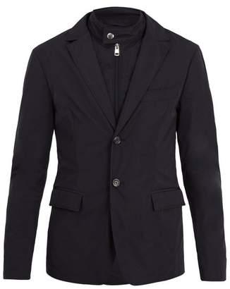 Moncler Detachable Funnel Neck Jacket - Mens - Navy