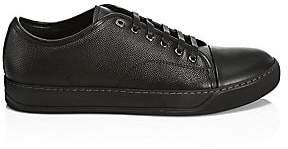 Lanvin Men's Texture Leather Low-Top Sneakers