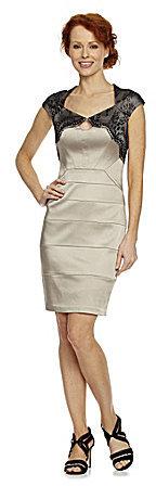 Jax Lace-Yoke Bandage Dress