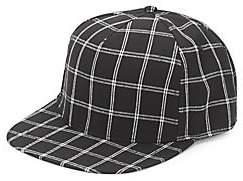 Gents Men's Flat-Brim Check-Print Baseball Cap