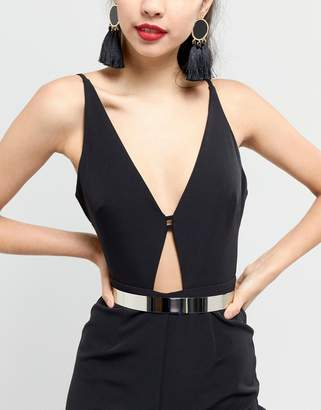 Asos DESIGN skinny full metal waist belt
