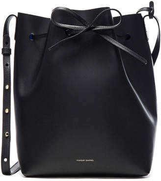 Mansur Gavriel Bucket Bag in Black & Royal | FWRD