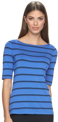 Women's Apt. 9® Essential Striped Boatneck Tee $26 thestylecure.com