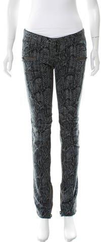 BalmainBalmain Printed Straight-Leg Jeans