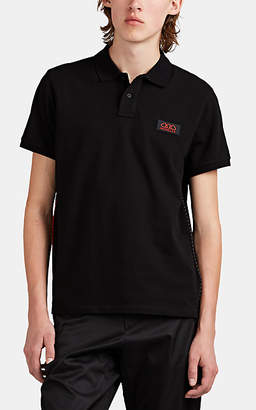 Moncler Men's Logo-Patch Cotton Piqué Polo Shirt - Black