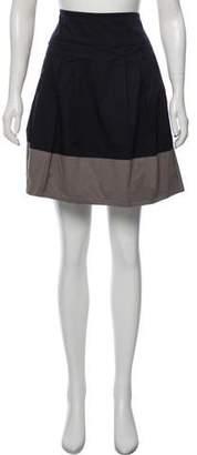 Vince Colorblock A-line Skirt