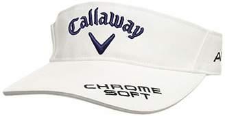 Callaway (キャロウェイ) - [キャロウェイ] [レディース] 定番 ロゴ入り サンバイザー (ツアーモデル)[ 241-9984808 / TOUR VISOR WOMEN ] 帽子 ゴルフ 030_ホワイト/ブラック 日本 FR (FREE サイズ)