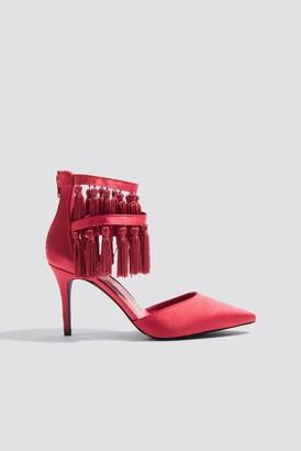 Na Kd Shoes Tassle High Heels Red