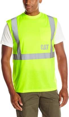 Caterpillar Men's Sleeveless T-Shirt, Hi Vis Yellow