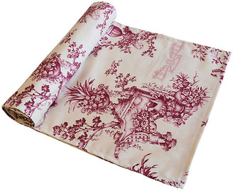 One Kings Lane Vintage French Floral & Urn Toile Table Runner