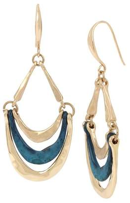 Robert Lee Morris Soho Sculptural Multi Row Drop Earrings