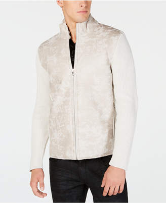 INC International Concepts I.n.c. Men's Textured Sweater Jacket