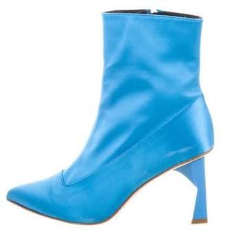 Tibi Alexis Satin Ankle Boots