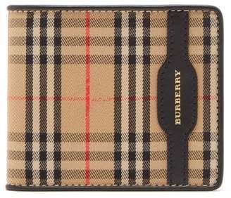Burberry Haymarket Check Bi Fold Wallet - Mens - Black