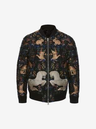 Alexander McQueen Jacquard Bomber Jacket