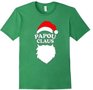Papou Claus T Shirt - Funny Holiday Christmas Gift Tee