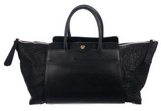 MCM Large Leather Handle Bag