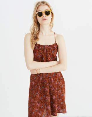 Madewell Tulum Cover-Up Dress in Warm Paisley