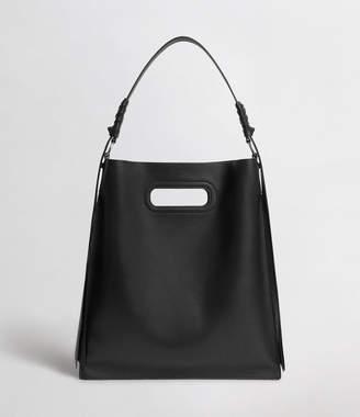 AllSaints Voltaire Leather Flat Hobo Bag