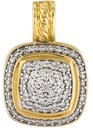 David Yurman 18K Diamond Albion Enhancer Pendant