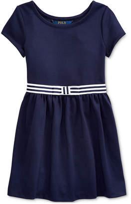 Polo Ralph Lauren Toddler Girls Ponte Roma Bow Dress