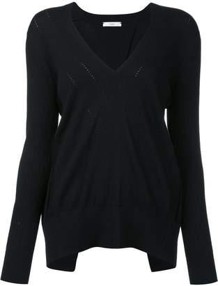 Tome open back V-neck blouse