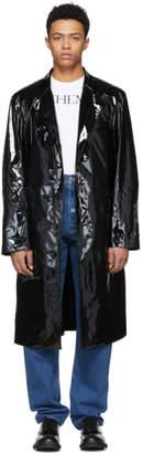John Lawrence Sullivan Johnlawrencesullivan Black Shiny Vinyl Over Coat