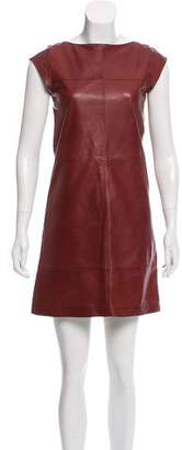 Brunello Cucinelli Leather Shift Dress