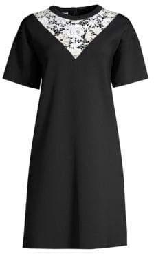 Escada Sport Lace Insert T-Shirt Dress