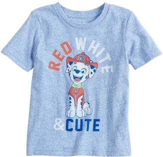 "Baby Boy Jumping Beans Paw Patrol Marshall ""Red, White & Cute"" Graphic Tee"