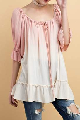 Easel Blush Ombre Top