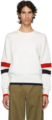 Thom Browne White Articulated Sweatshirt