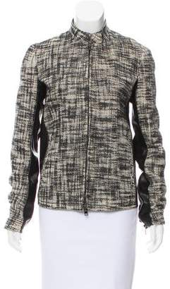 Reed Krakoff Leather-Trimmed Patterned Jacket