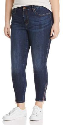 Seven7 Jeans Plus Ankle Zip Skinny Jeans in Avalon