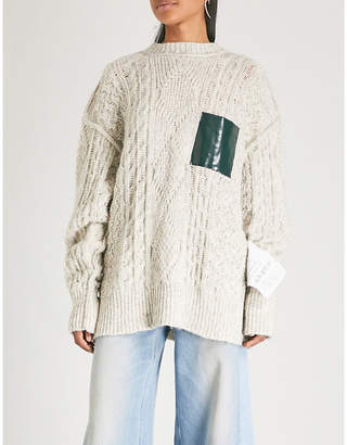 MM6 MAISON MARGIELA Oversized cable-knit cotton-blend jumper