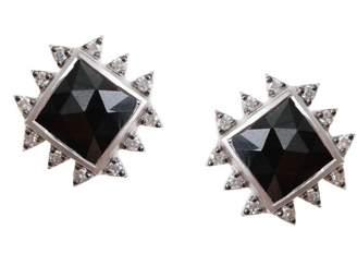 Coomi Silver Vitality Diamond, Black Spinel & Sterling Silver Stud Earrings