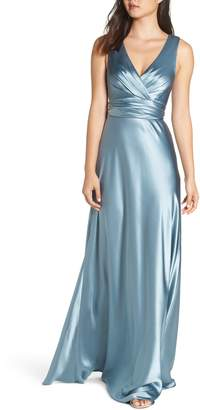 Jill Stuart Tie Back Satin Gown