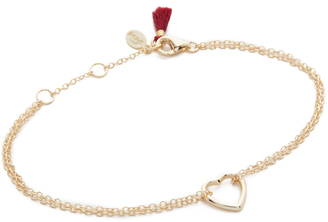 Shashi Heart Bracelet $36 thestylecure.com