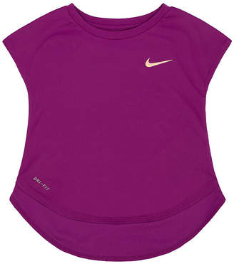 Nike Short Sleeve Crew Neck T-Shirt-Preschool Girls