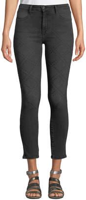 Brockenbow Reina Dome-Studded Skinny Jeans